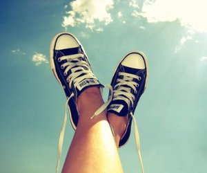 converse, shoes, and sky image