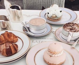 food, laduree, and coffee image