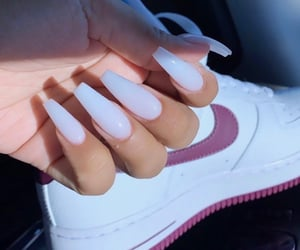 nails, white, and nike image