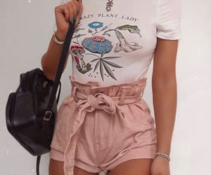 graphic tee, jewelry, and summer image