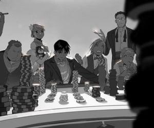 fullmetal alchemist, riza hawkeye, and roy mustang image