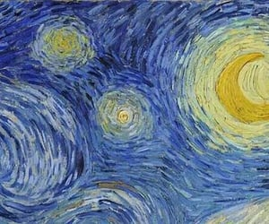 art, starry night, and indie image