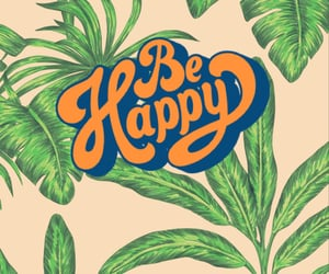 green, happy, and leaves image