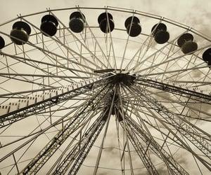 amusement park, wheel, and ocean city image