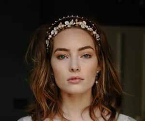 boho, rose gold, and bridal hair bands image