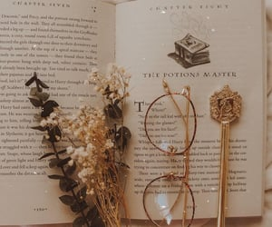 books, flowers, and coffee image