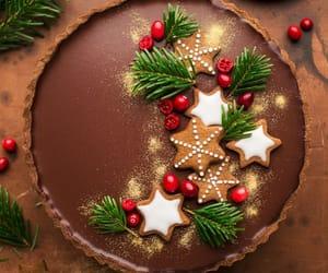 cake, Cookies, and christmas image