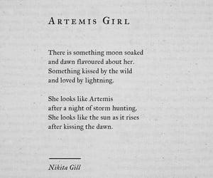 artemis, poem, and poetry image
