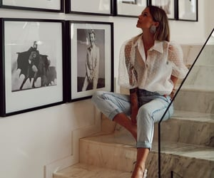 blouse, chic, and denim image