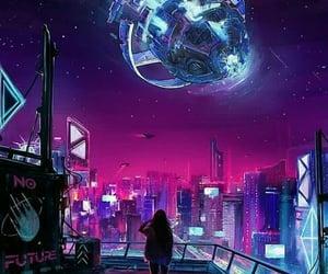 alone, galaxy, and imagination image