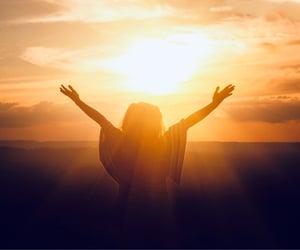 girl, spirit, and sun image