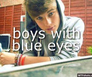 boy, blue eyes, and eyes image