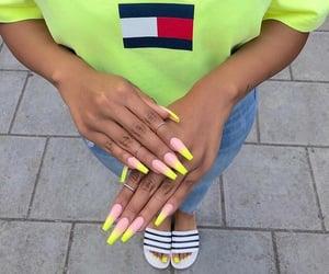 long nails, coffin nails, and nails image