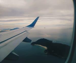 aeroplane, aviao, and sea image