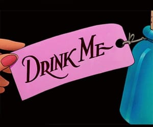 drink me, alice in wonderland, and alice image