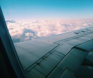 aeroplane, aviao, and clouds image