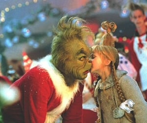 christmas, grinch, and kiss image