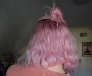 pink, hair, and grunge image