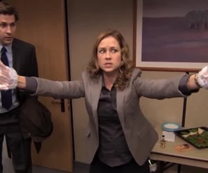 funny, pam, and the office image