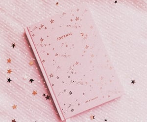 journal, book, and pink image