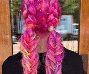 blonde hair, glitter hair, and mermaid hair image