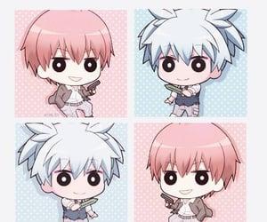 anime, blue hair, and karma image