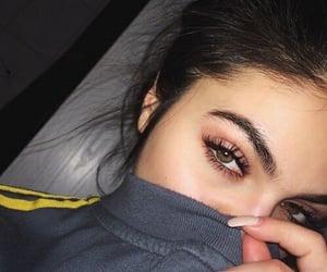 brown, makeup, and eyes image
