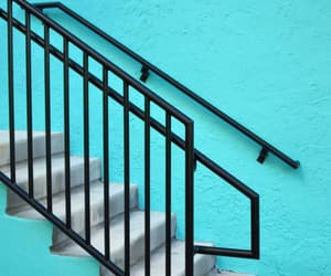blue, stairs, and turquoise image