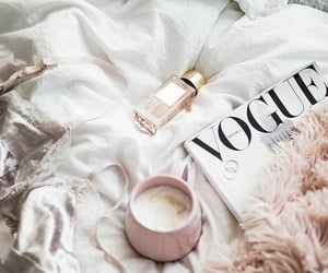 vogue, coffee, and magazine image