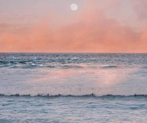 ocean, pastel, and sunset image