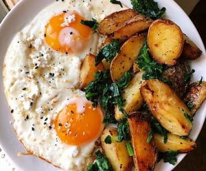 eggs, potato, and breakfast image