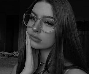 beautiful women, black and white, and make up eyes image