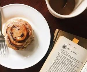 book, Cinnamon, and coffee image