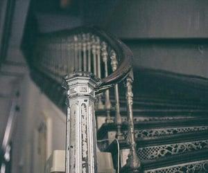 dark, house, and stairs image