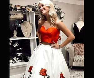 prom dresses, demidress, and two piece prom dresses image
