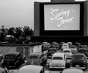 vintage, black and white, and cars image