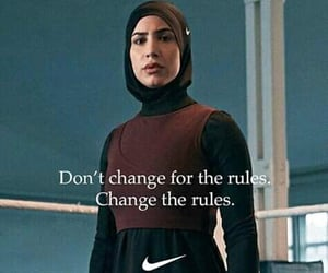 fitness, hijab, and Just Do It image
