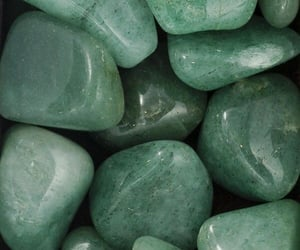 green, aesthetic, and stone image