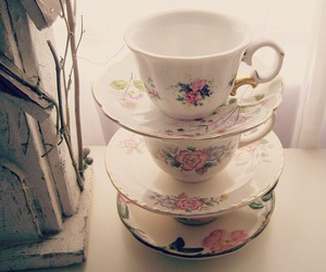 cups, tea, and vintage image