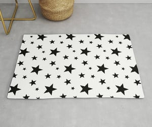 black and white, stars, and pattern image