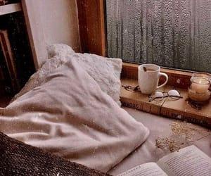 cozy, coffee, and rain image