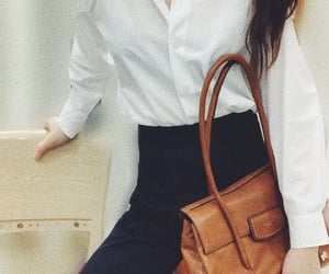 business casual, retro fashion, and button down shirt image
