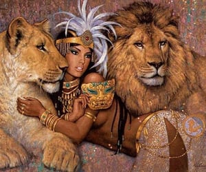 antiquity, egypt, and lion image