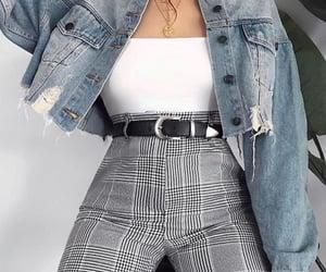 jeans jacket, tumblr, and black belt image