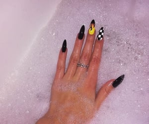 nails, flame, and nail art image