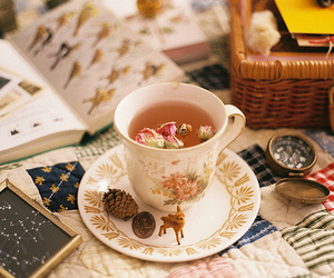 tea, vintage, and book image