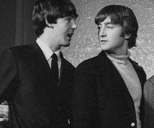 black and white, Paul McCartney, and mclennon image