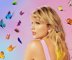 Taylor Swift, lover, and butterfly image