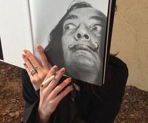 cigarette, fashion, and fingers image