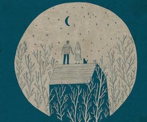 moon, love, and night image